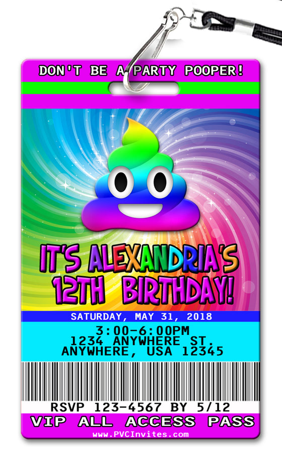 Party Pooper Birthday Invitation