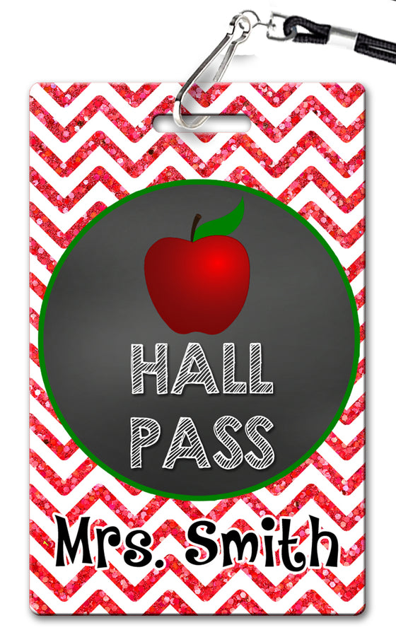 Apple Theme Hall Passes (Set of 10)