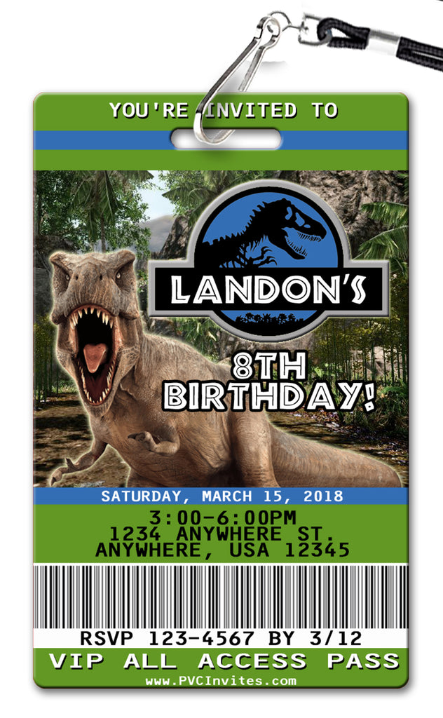 Jurassic World Birthday Invitation