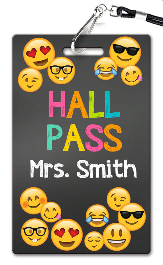 Emoji Faces Theme Hall Passes (Set of 10)