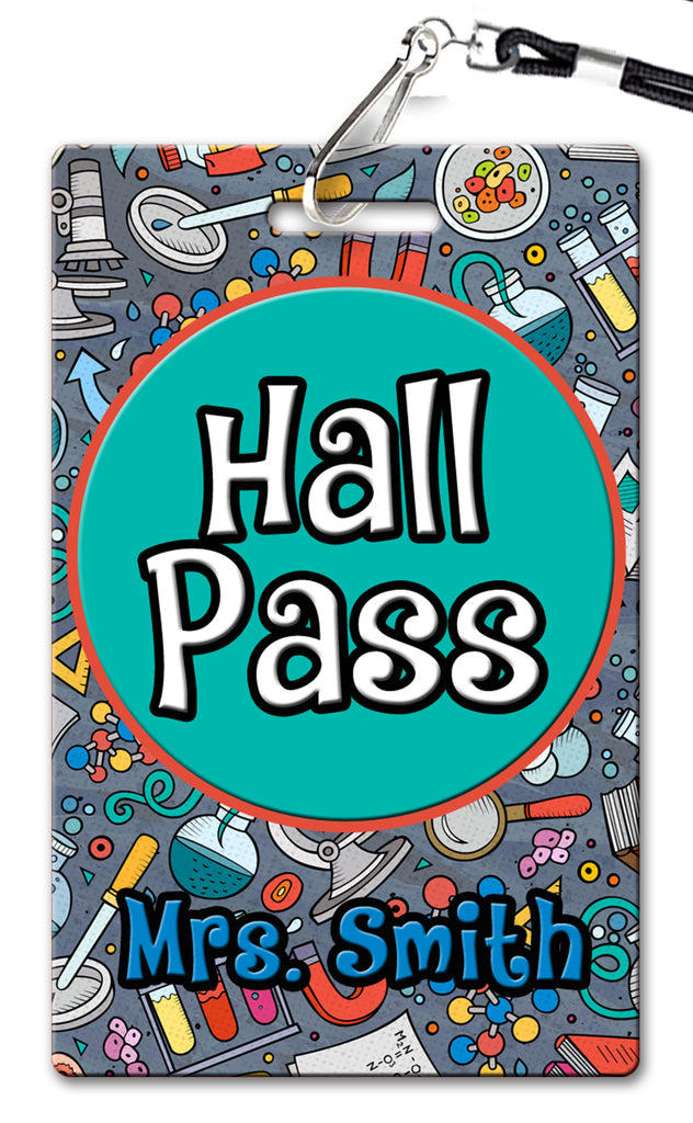 Science Theme Hall Passes (Set of 10)