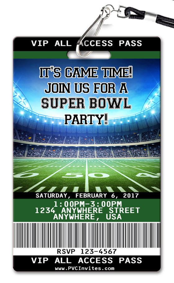Super Bowl Invitation