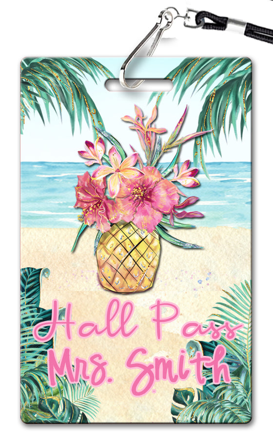 Tropical Getaway Theme Hall Passes (Set of 10)