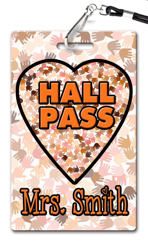 All are Welcome Theme Hall Passes (Set of 10)