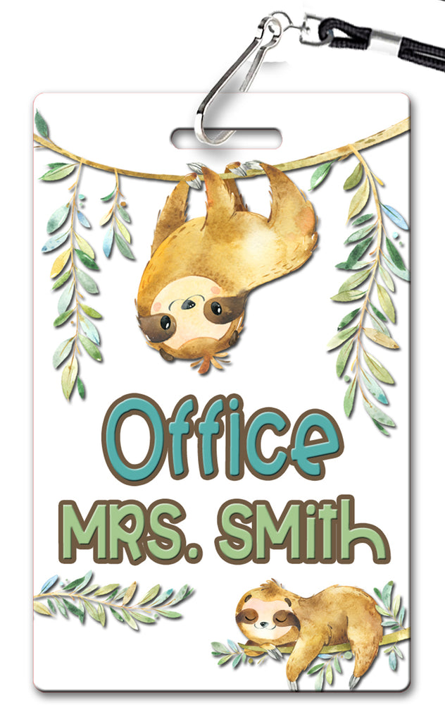 Sloth Theme Hall Passes (Set of 10)