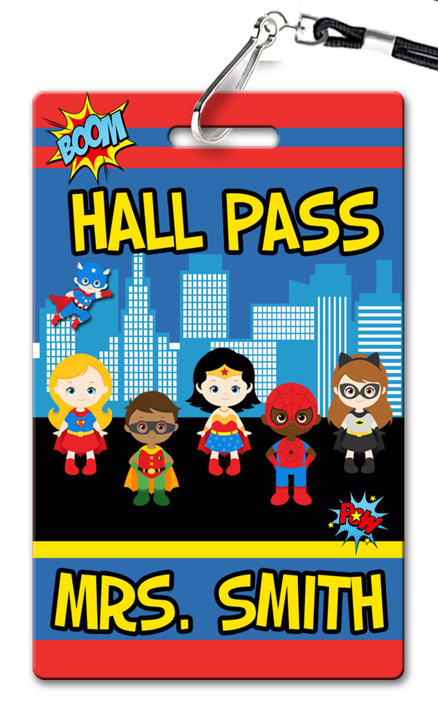 Superhero Hall Passes (Set of 10)