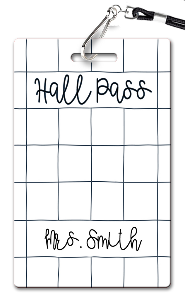 Grid Lines Hall Passes (Set of 10)