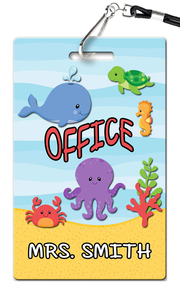 Under the Sea Theme Hall Passes (Set of 10)