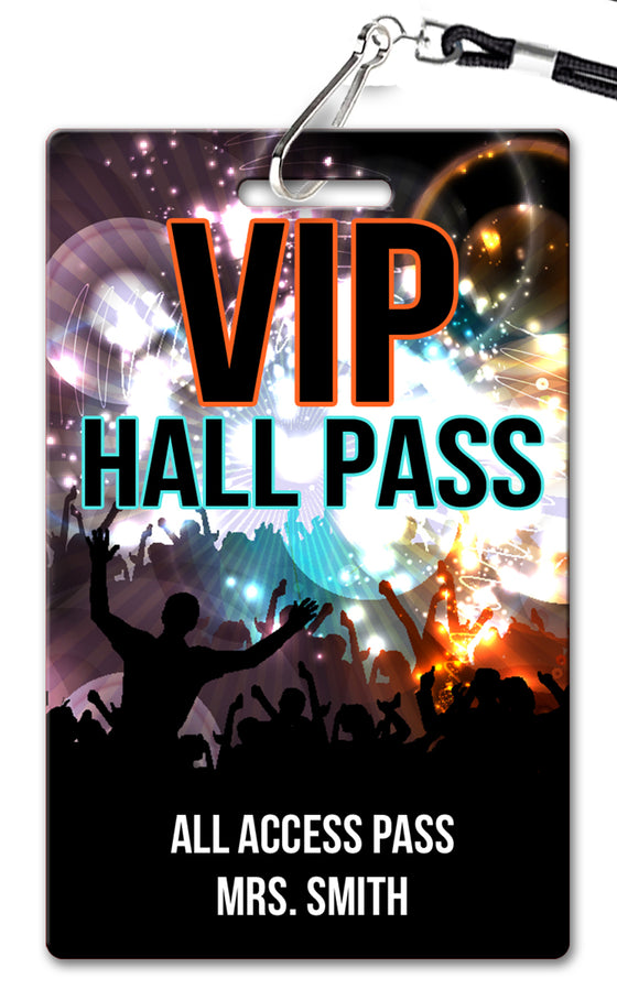 VIP Hall Passes (Set of 10)