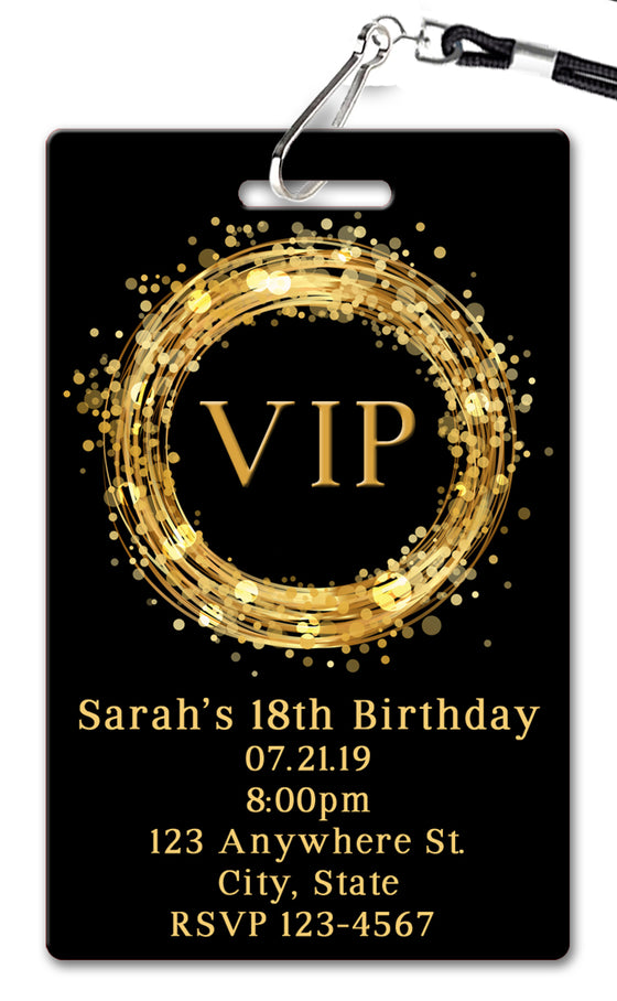 VIP Birthday Invitation