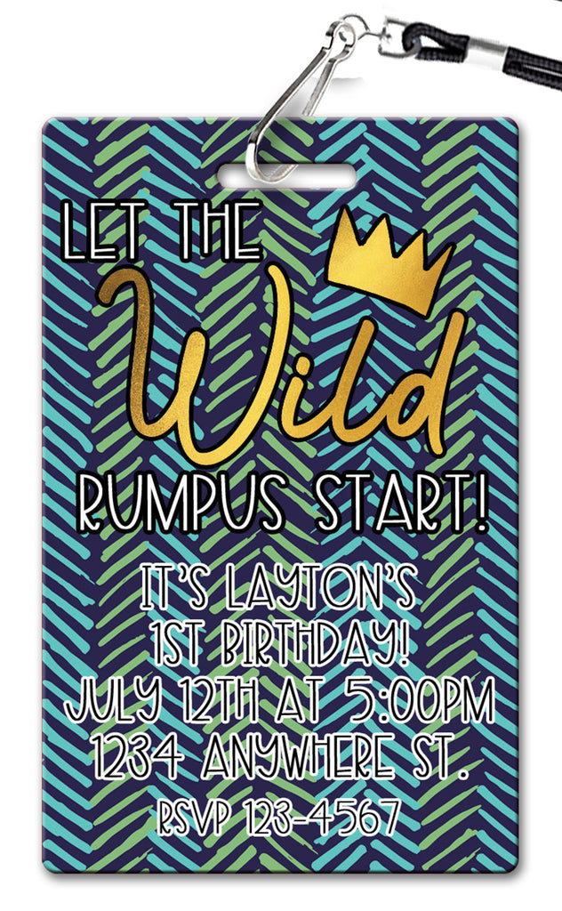 Wild Rumpus Birthday Invitation