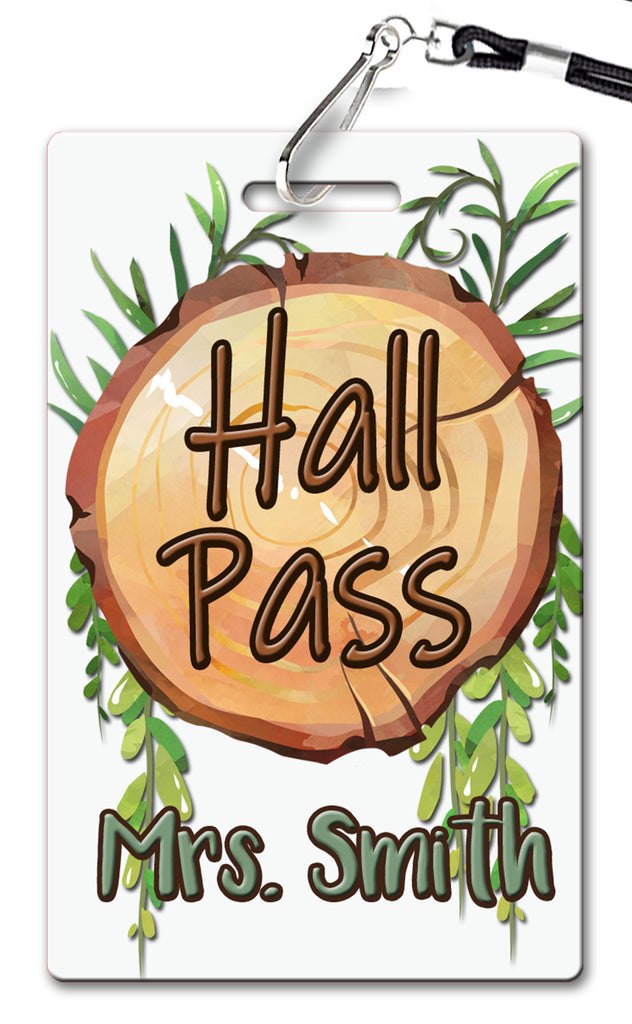 Wood Slice Hall Passes (Set of 10)