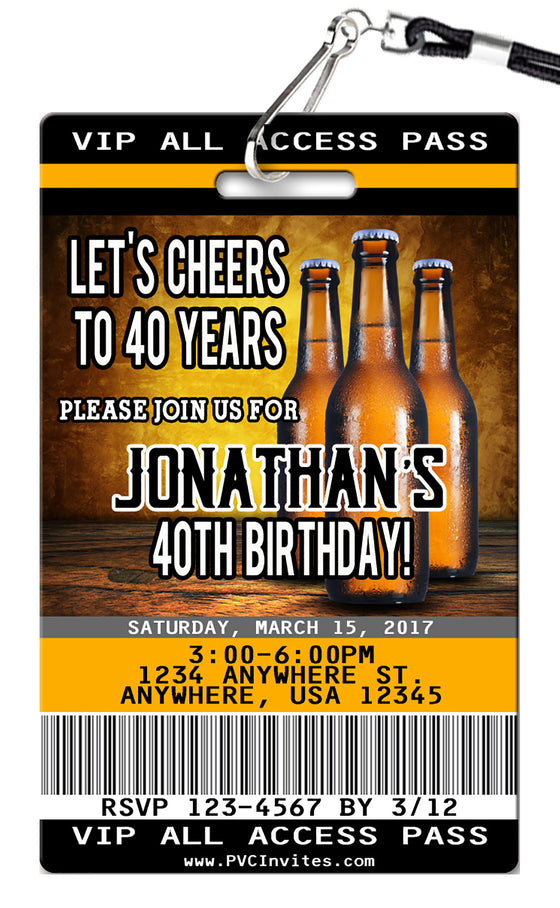 Beer Birthday Invitation