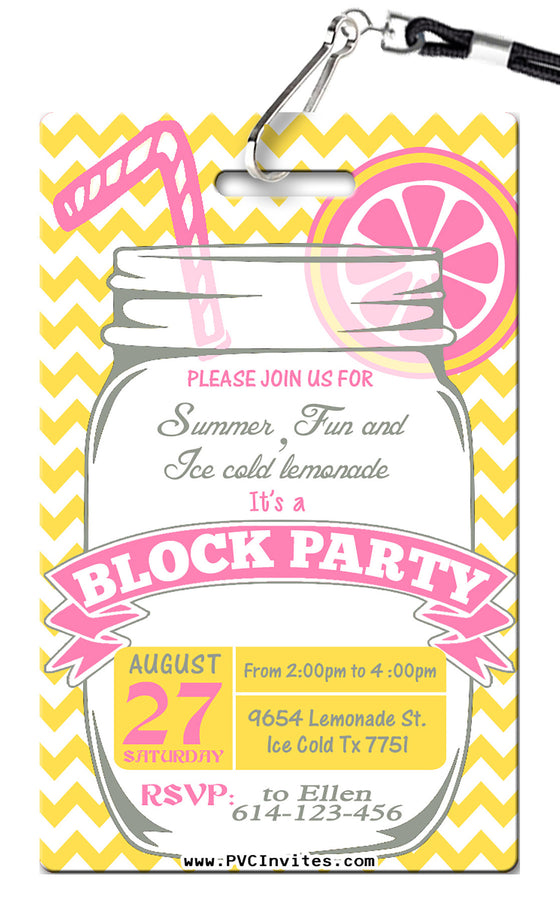 Block Party Invitation