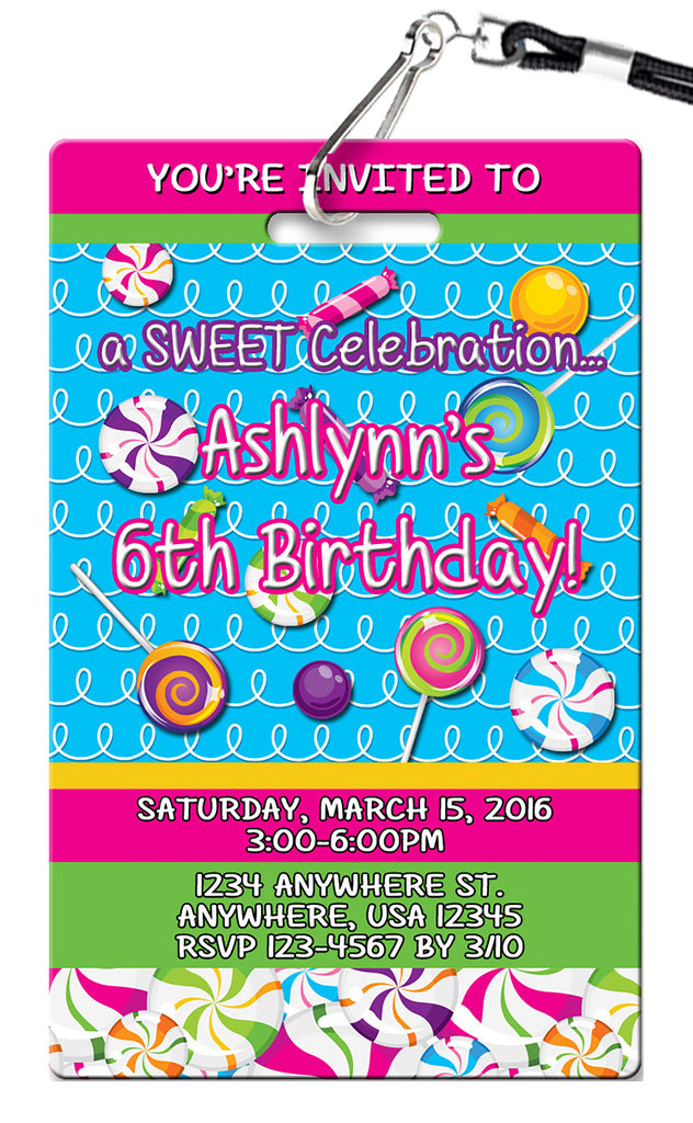 Candy Birthday Invitation