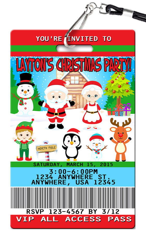 Christmas Birthday Invitations