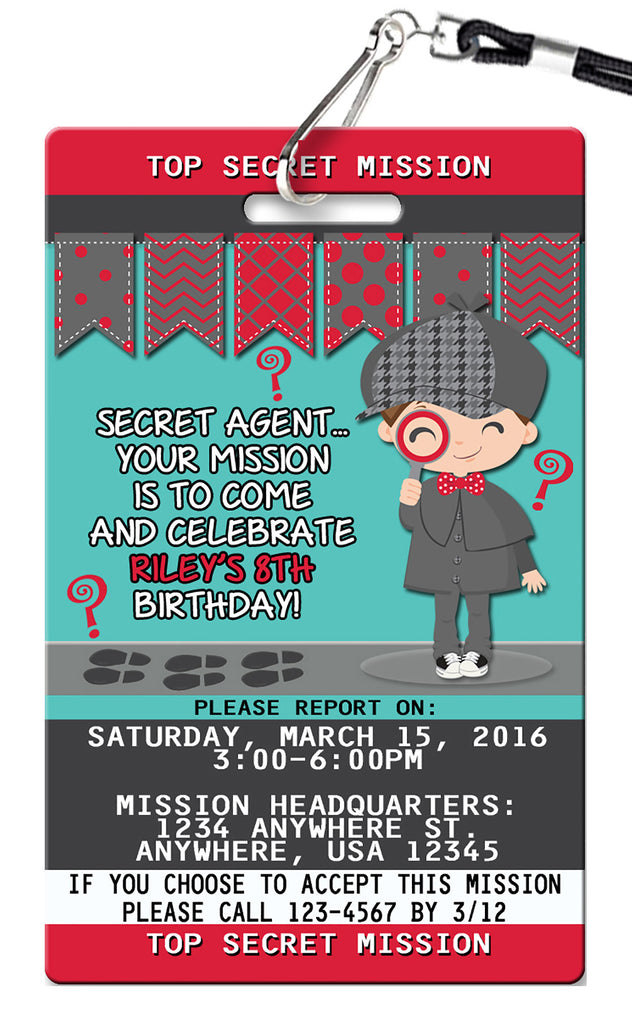 Detective Birthday Invitation