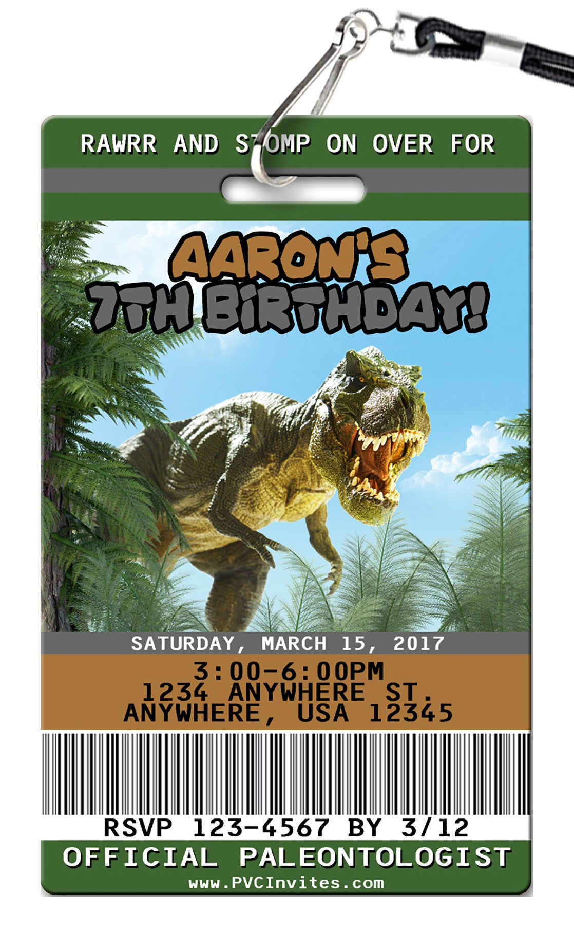 Dinosaur birthday invitations pvc invites vip birthday invitations dinosaur birthday invitation filmwisefo
