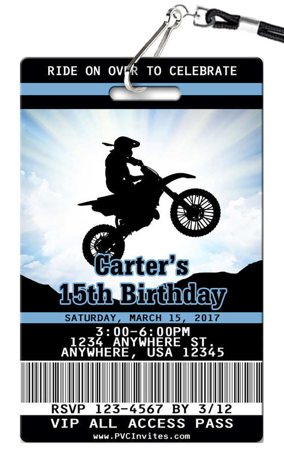 Dirt Bike Birthday Invitations
