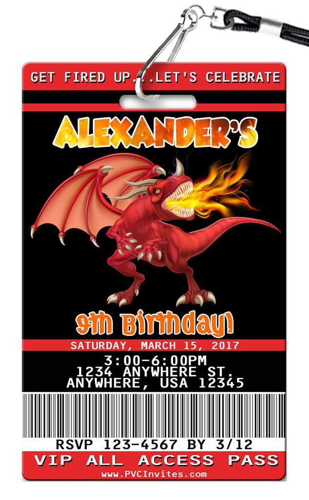 Dragon Birthday Invitation