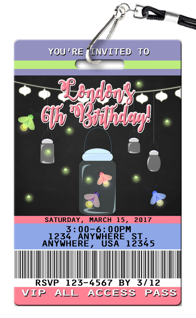 Firefly Birthday Invitation
