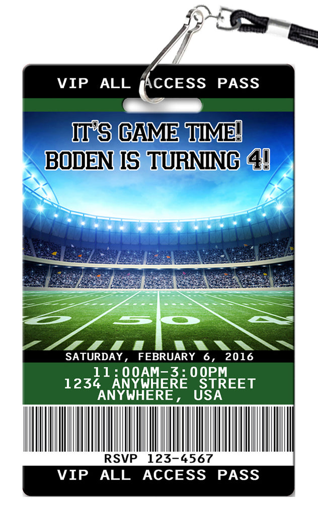 Football Birthday Invitations