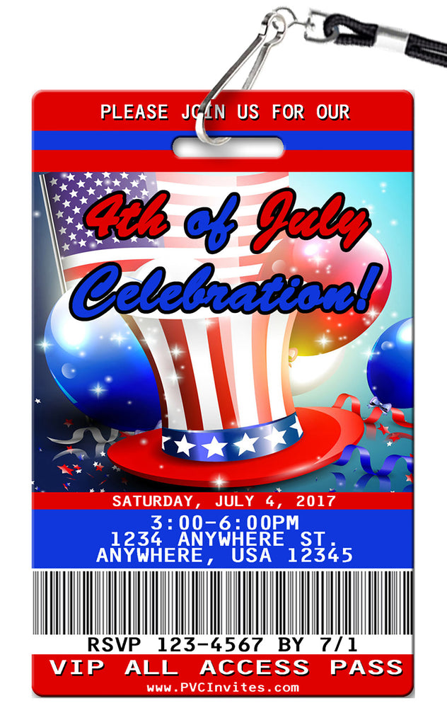 Fourth of July Birthday Invitations
