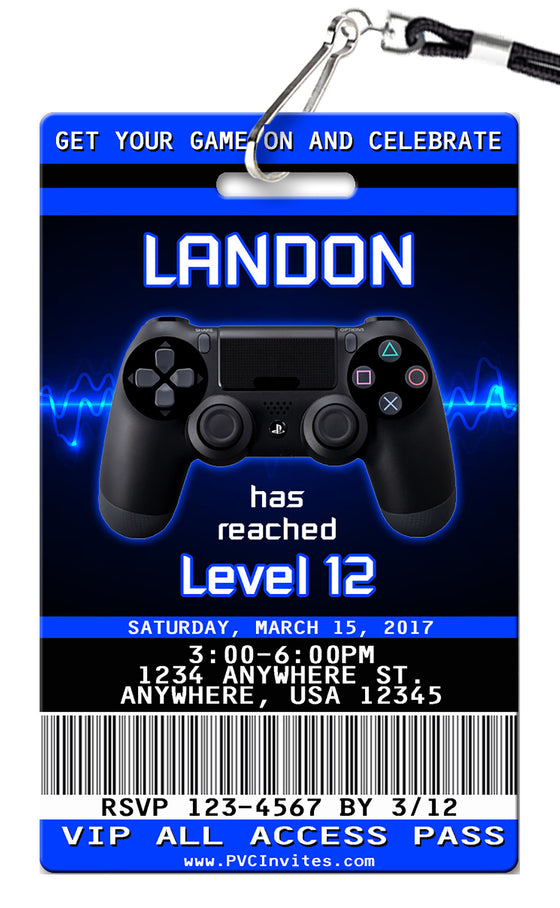 Gaming Birthday Invitations