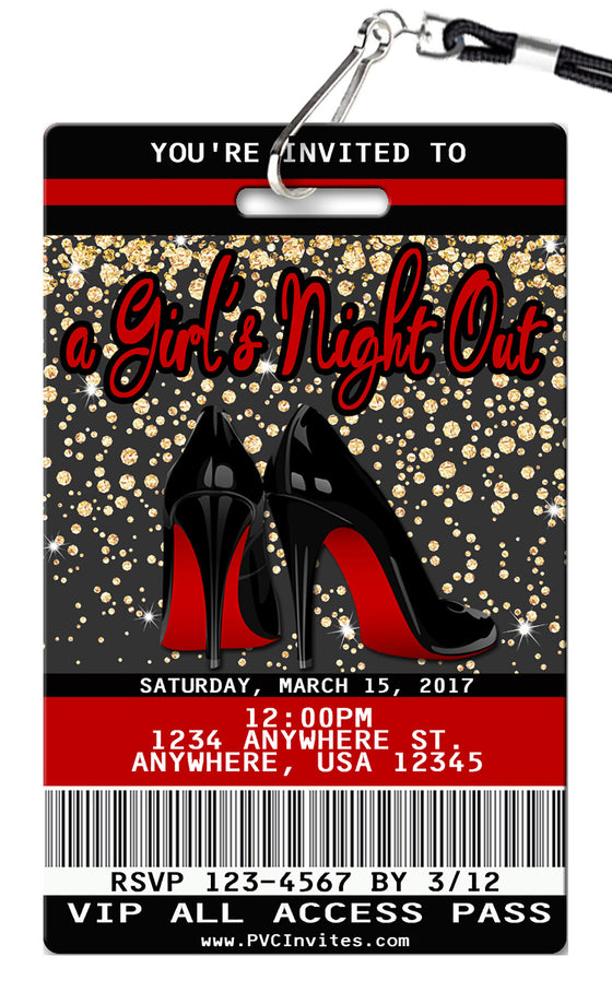 Girls Night Out Birthday Invitations