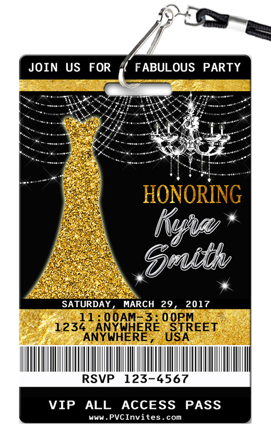 Glam Birthday Invitations