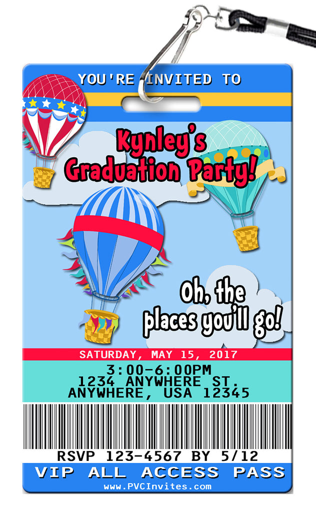 Hot Air Balloon Birthday Invitations