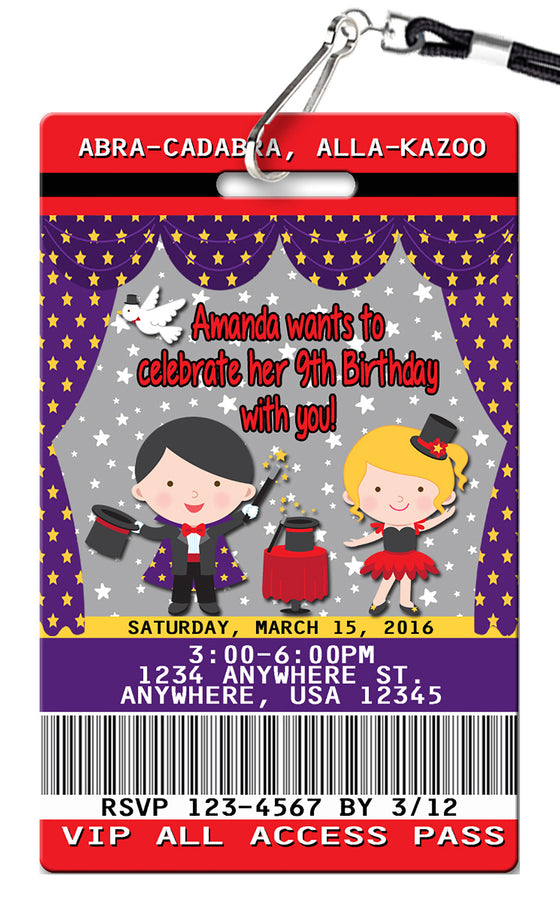 children s invitations page 9 pvc invites vip birthday invitations