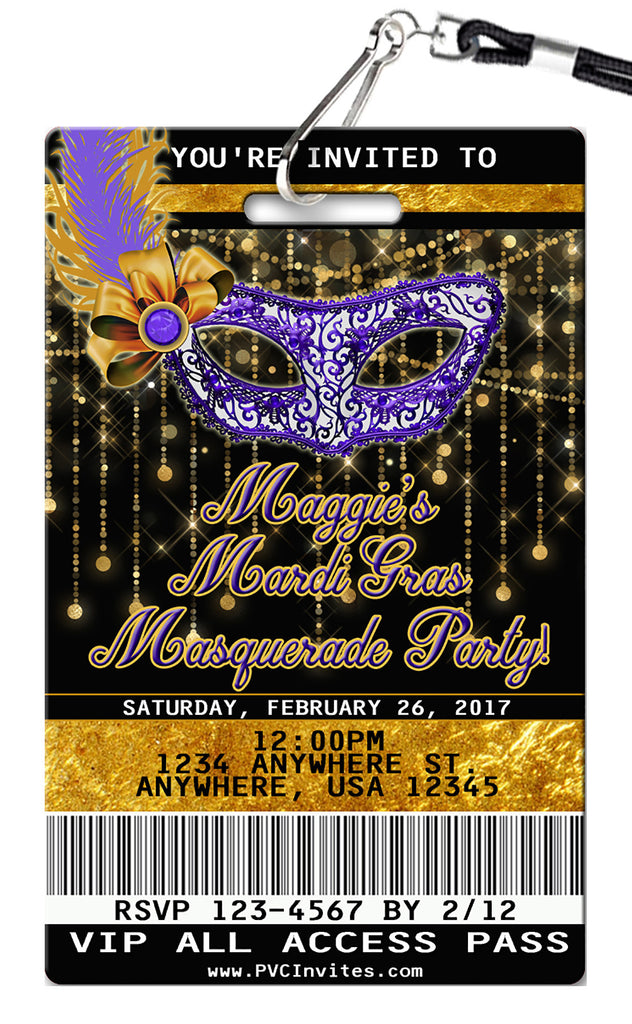 Masquerade Birthday Invitation