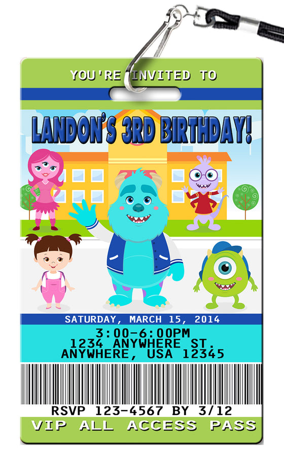 Monsters Inc Birthday Invitation