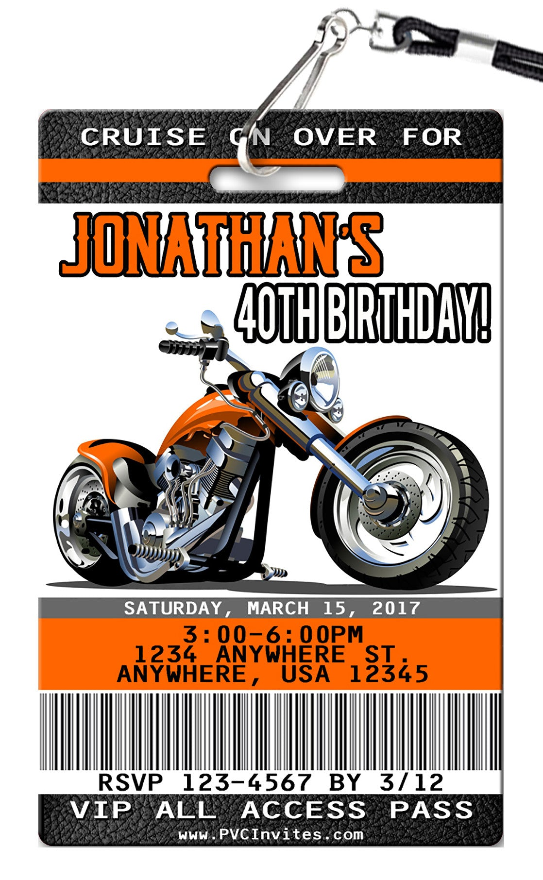 motorcycle birthday pictures  Motorcycle Birthday Invitations - PVC Invites - VIP Birthday Invitations