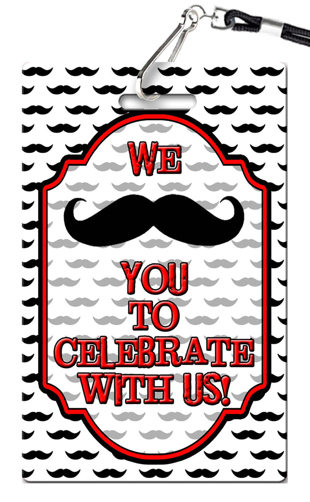 Mustache Birthday Invitations