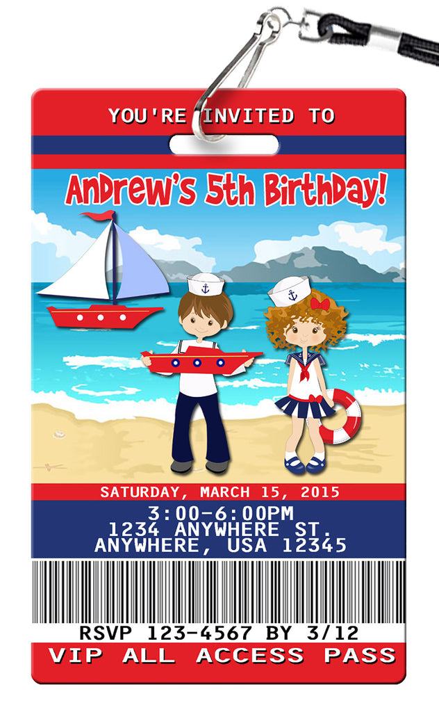 Nautical Birthday Invitations