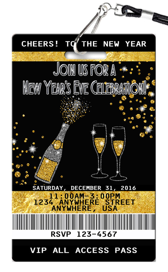 New Years Birthday Invitations