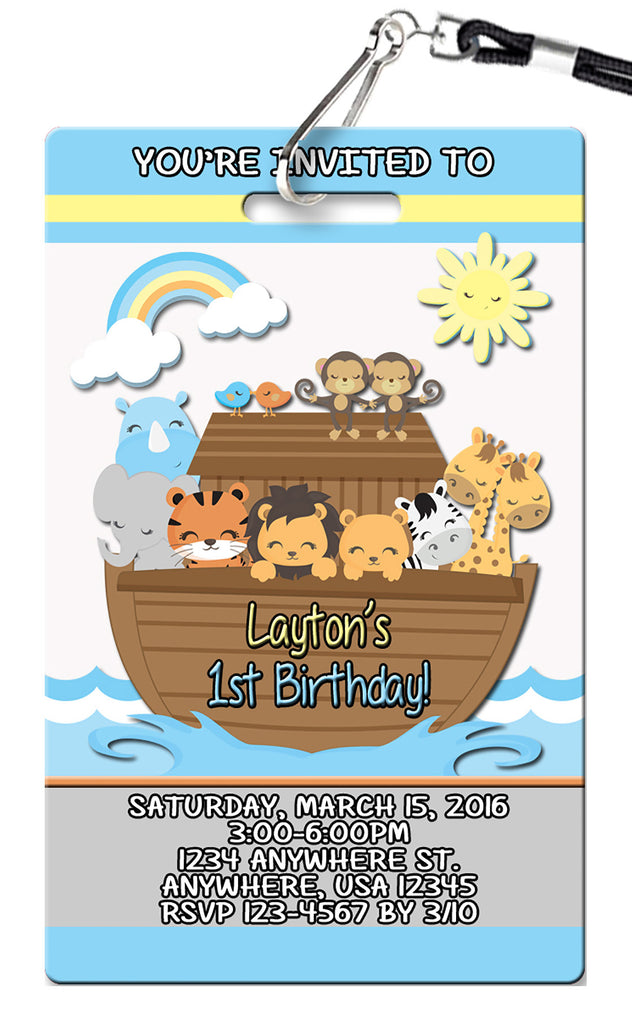 Noah's Arc Birthday Invitation