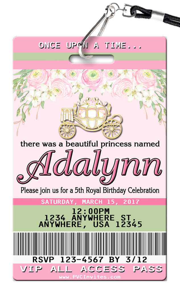 Once Upon a Time Birthday Invitations