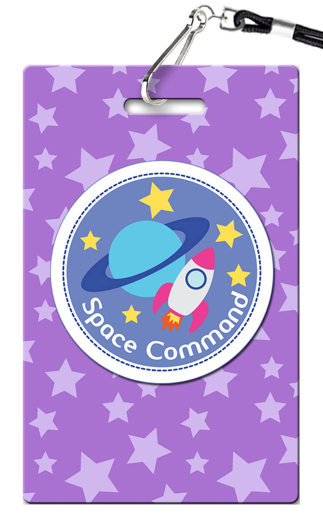 Outer Space Girl Birthday Invitation