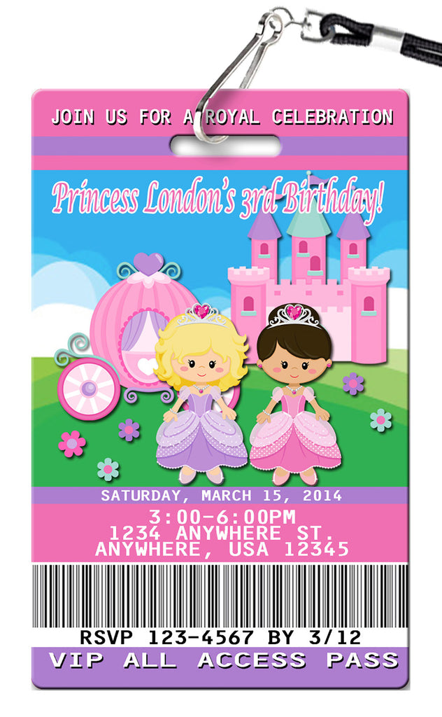 Princess Birthday Invitation