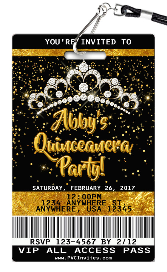 Quinceanera Birthday Invitation