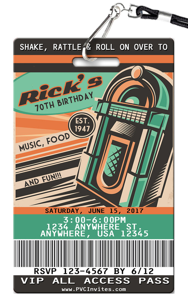 Retro 50's Birthday Invitation