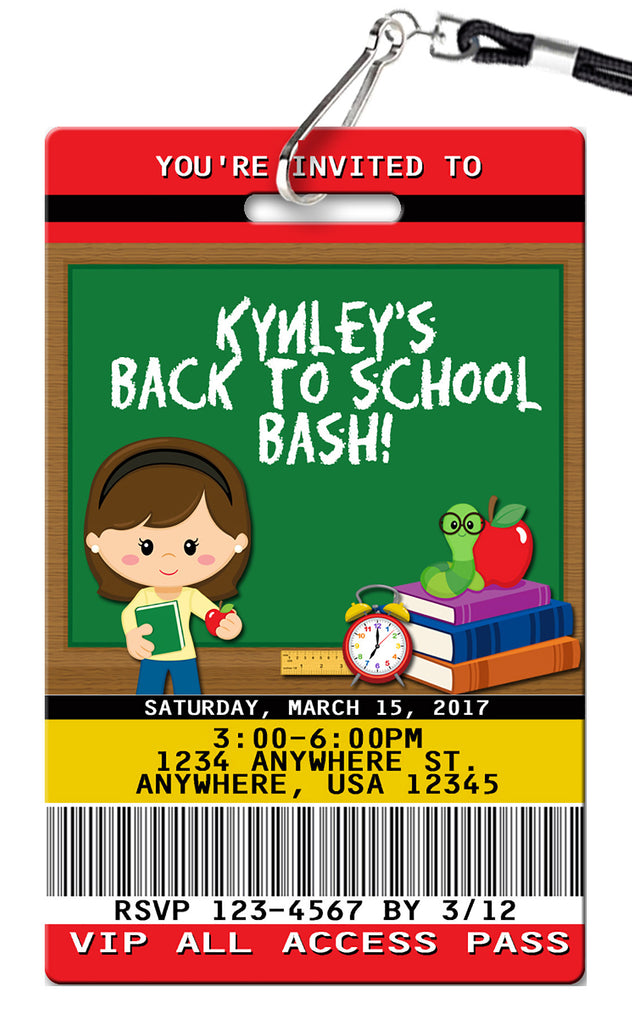 School Birthday Invitation