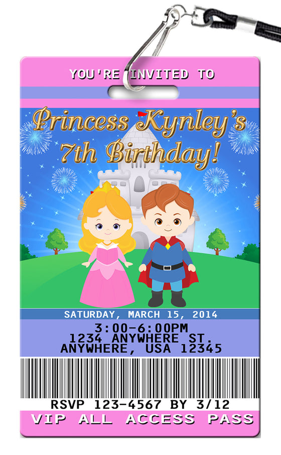 Sleeping Beauty Birthday Invitation