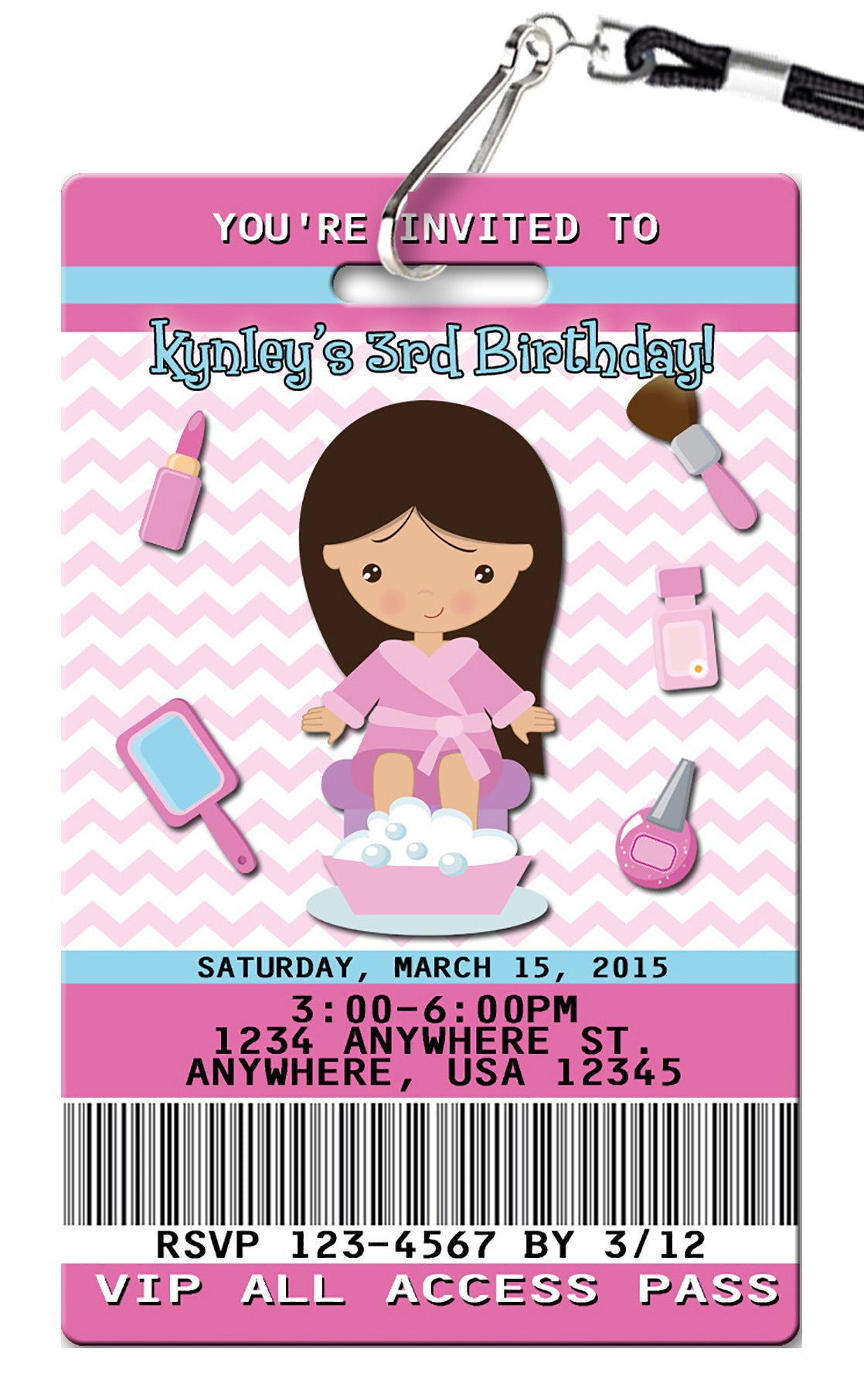 Spa birthday invitations pvc invites vip birthday invitations spa birthday invitation filmwisefo