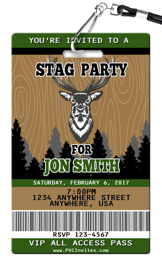 Stag Birthday Invitation