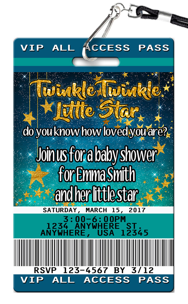 Stars Birthday Invitation