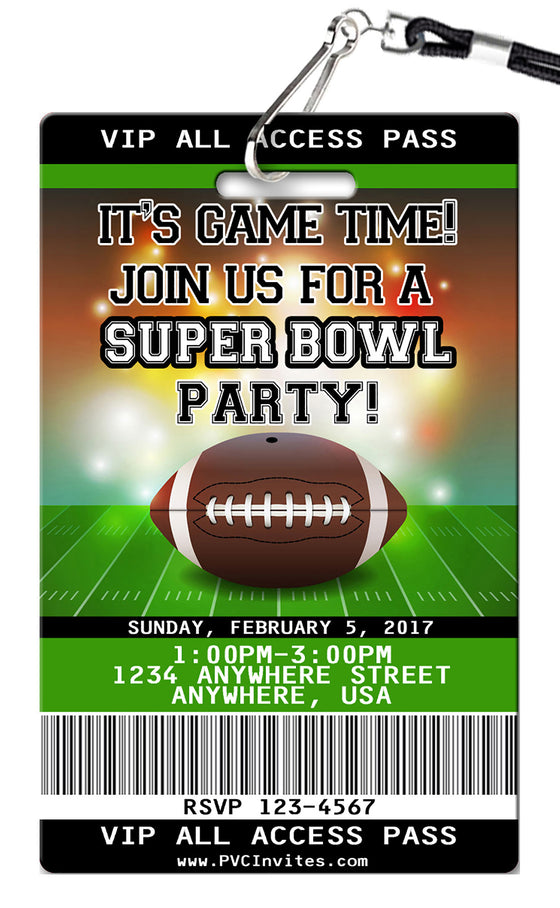 Super Bowl Birthday Invitations